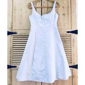 J. CREW A-Line 100% Silk Baby Blue Formal Dress